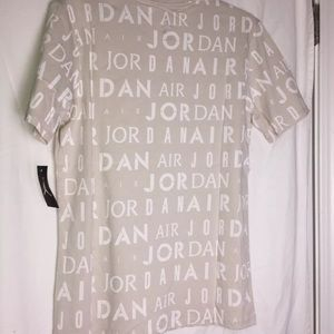 8ac9417cb9a1 Jordan Shirts - 2 NWT Air Jordan T-shirt s Size Medium White   Tan